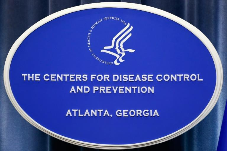 A sign with the logo for the Centers for Disease Control and Prevention at the Tom Harkin Global Communications Center in Atlanta, Georgia