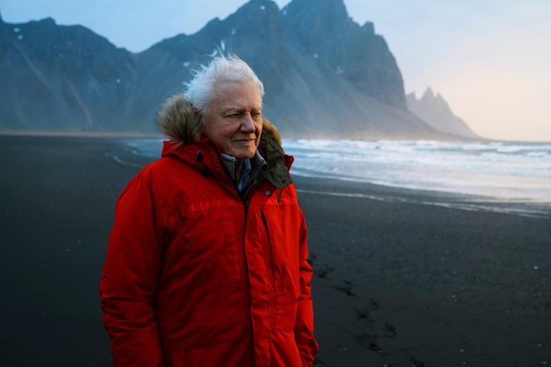 Sir David Attenborough in Iceland ahead of BBC's new natural history series Seven Worlds, One Planet. (PA)