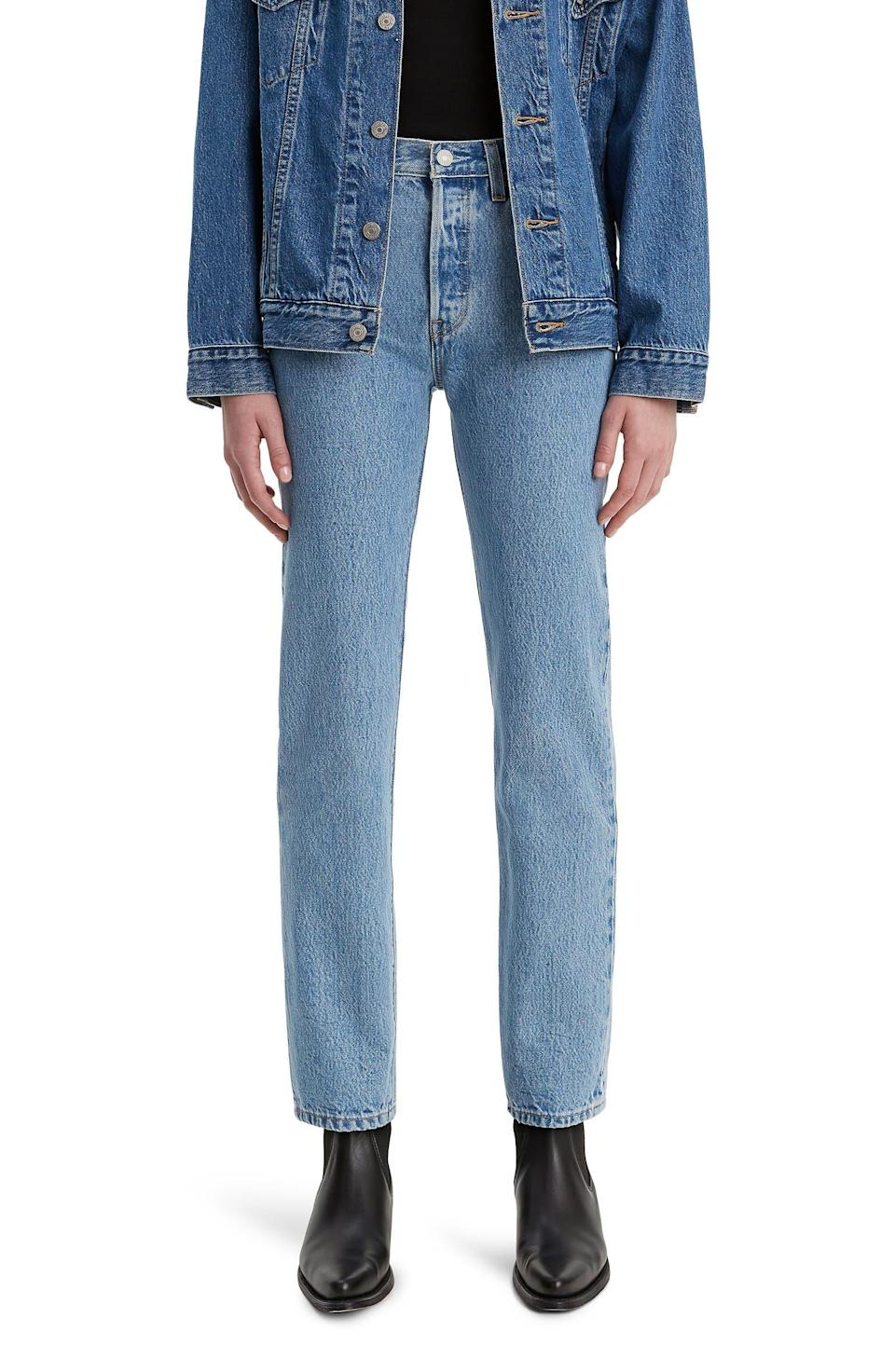 """<h2>Levi's 501® High Waist Straight Leg Jeans 34% Off</h2><br>""""Levi's are my denim brand of choice. I usually go for the wedgie fit, but this style will look great with boots in the fall."""" <em>– Kate Spencer, Updates Market Editor</em><br><br><em>Shop</em> <strong><em><a href=""""https://www.nordstrom.com/brands/levissupsup--1169"""" rel=""""nofollow noopener"""" target=""""_blank"""" data-ylk=""""slk:Levi's"""" class=""""link rapid-noclick-resp"""">Levi's</a></em></strong><br><br><strong>Levi's</strong> 501® High Waist Straight Leg Jeans, $, available at <a href=""""https://go.skimresources.com/?id=30283X879131&url=https%3A%2F%2Fwww.nordstrom.com%2Fs%2Flevis-501-high-waist-straight-leg-jeans-luxor-indigo%2F5794287"""" rel=""""nofollow noopener"""" target=""""_blank"""" data-ylk=""""slk:Nordstrom"""" class=""""link rapid-noclick-resp"""">Nordstrom</a>"""