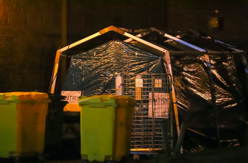 Pictures of the pod obscured by bins were taken by the man at around 9pm on Wednesday, 19 February. (Reach)
