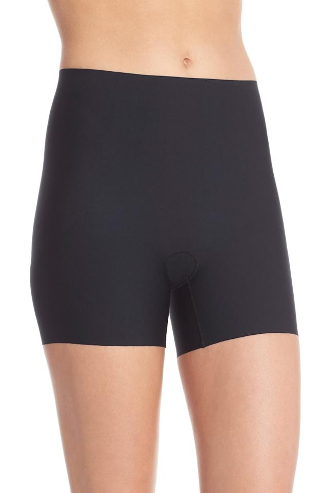 "<p>These tummy-control <a href=""https://www.popsugar.com/buy/Spanx-Thinstincts-Girl-Shorts-558633?p_name=Spanx%20Thinstincts%20Girl%20Shorts&retailer=shop.nordstrom.com&pid=558633&price=39&evar1=fab%3Aus&evar9=35409220&evar98=https%3A%2F%2Fwww.popsugar.com%2Fphoto-gallery%2F35409220%2Fimage%2F35409348%2FSpanx-Thinstincts-Girl-Shorts&list1=shopping%2Cnordstrom%2Cspanx%2Cunderwear%2Cstyle%20how%20to%2Cstyle%20tips&prop13=api&pdata=1"" rel=""nofollow"" data-shoppable-link=""1"" target=""_blank"" class=""ga-track"" data-ga-category=""Related"" data-ga-label=""https://shop.nordstrom.com/s/spanx-thinstincts-girl-shorts/4287437/full?origin=keywordsearch-personalizedsort&amp;breadcrumb=Home%2FAll%20Results&amp;color=very%20black"" data-ga-action=""In-Line Links"">Spanx Thinstincts Girl Shorts</a> ($39, originally $52) are great for layering under dresses.</p>"