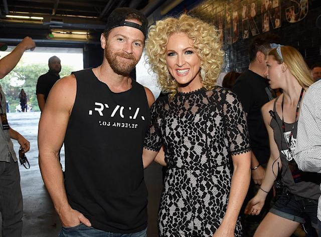 <p>Kip Moore and Kimberly Schlapman of Little Big Town attend the 2017 iHeartCountry Festival, A Music Experience by AT&T at The Frank Erwin Center on May 6, 2017 in Austin, Texas. (Photo by Rick Diamond/Getty Images for iHeartMedia) </p>