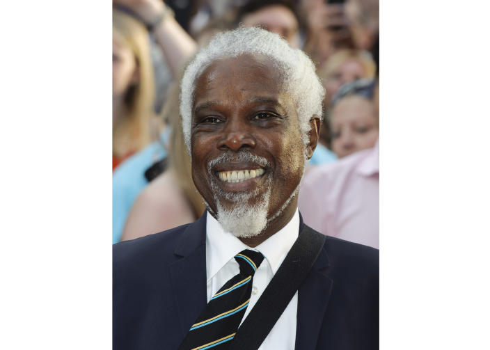"""FILE - Billy Ocean arrives for the World premiere of """"Keith Lemon: the Film"""" in London on Aug. 20, 2012. Ocean's latest album """"One World"""" will be released on Sept. 4, 2020. (AP Photo/Jonathan Short, File)"""