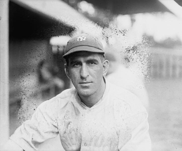In this photo, date not known, provided by the Library of Congress, New York Yankees shortstop Roger Peckinpaugh poses for a photo in New York. Described as a natural leader, in 1914 he became the team's second captain, a title he held through 1921. He succeeded Frank Chance as the team's manager for the last few weeks of the 1914 season, making him, at 23, the youngest manager ever in the majors, though he did not manage the Yankees the following season. Reliable and proficient both in the field and at the plate, Peckinpaugh was the senior player of the Yankees teams that emerged as contenders in the early 1920s. But after the 1921 season, the captain was traded to the Red Sox and then to the Washington Senators. He was the star of the Senators' 1924 world championship team. (AP Photo/Library of Congress)