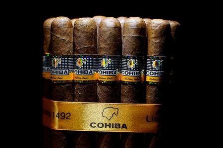 Cohiba cigars are seen on display at the 19th Habanos Festival in Havana, Cuba