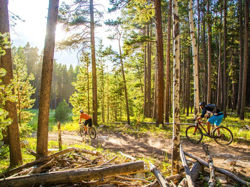 Casper mountain biking
