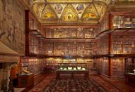 """<p><strong>Zoom out. What's this place all about?</strong><br> The Morgan is like a multi-hyphenate millennial—only instead of actress/model/influencer/whatever leads to early retirement, it's museum/library/landmark/historic site/music venue. The building was originally the private library of financier J. Pierpont Morgan. But since its 2006 expansion—led by world-renowned architect Renzo Piano—it's more like a mini Madison Avenue campus. There are now some 20 different spaces, including galleries, libraries, a performance hall, and more within.</p> <p><strong>What are we going to find in the permanent collection?</strong><br> The Morgan houses art in virtually every medium, including drawings, prints, and artifacts dating from 4000 B.C. to the twenty-first century. The library's holdings include a host of rare books and manuscripts: one of 23 copies of the original Declaration of Independence; Mozart's handwritten score of the Haffner Symphony; the collected works of Phillis Wheatley, the first known African American poet; the only extant manuscript of Milton's <em>Paradise Lost</em>; and Charles Dickens's manuscript of <em>A Christmas Carol</em>. Swoon.</p> <p><strong>What about rotating exhibits?</strong><br> The museum hosts a few temporary or seasonal exhibitions simultaneously. Topics range from a particular artist or author (Charles Dickens and Emily Dickinson have been covered in the past) to a comprehensive interpretation of a specific practice, like the importance of sketching and drawing for renowned Flemish Baroque painters.</p> <p><strong>What did you make of the crowd?</strong><br> The majority of museum-goers are New York City tourists (informed ones, who probably didn't come directly from <a href=""""https://www.cntraveler.com/stories/2013-08-07/what-not-to-do-in-times-square?mbid=synd_yahoo_rss"""" rel=""""nofollow noopener"""" target=""""_blank"""" data-ylk=""""slk:Time Square"""" class=""""link rapid-noclick-resp"""">Time Square</a>), but locals frequent the Morgan to catch a """