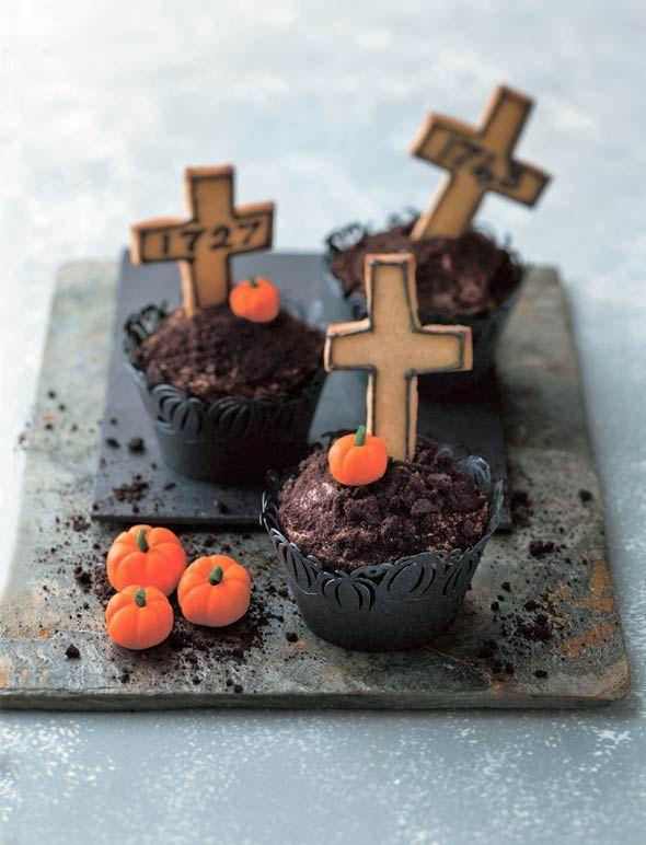 """<p>Get ready for death by chocolate, complete with cookie headstones and everything. </p><p><em><a href=""""http://leitesculinaria.com/89601/recipes-graveyard-halloween-cupcakes.html"""" rel=""""nofollow noopener"""" target=""""_blank"""" data-ylk=""""slk:Get the recipe from Leite's Culinaria »"""" class=""""link rapid-noclick-resp"""">Get the recipe from Leite's Culinaria »</a></em></p>"""