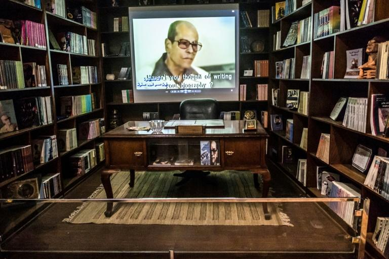 Naguib Mahfouz's desk is just one of the items on display at his museum in the Al-Azhar district of Egypt's capital Cairo (AFP Photo/Khaled DESOUKI)