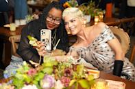 <p>Selma Blair poses for a selfie with activist and author Keah Brown to celebrate the actress' discovery+ documentary <em>Introducing, Selma Blair </em>at the Hampton Film Festival in New York on Oct. 9.</p>