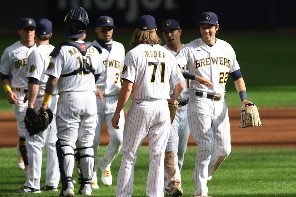 The Brewers are making a run for an NL wild-card spot. (Photo by Larry Radloff/Icon Sportswire via Getty Images)