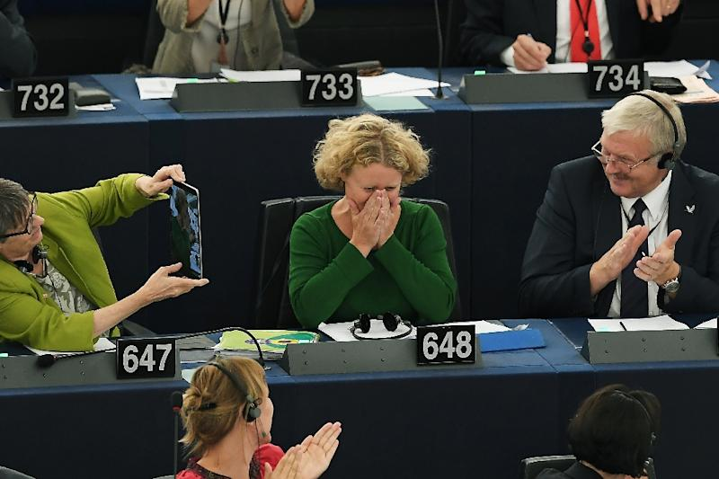 Dutch Green MEP Judith Sargentini, seen after the contentious vote, wrote the report which voiced concern over judicial independence and corruption in Hungary, as well as freedom of expression, academic and religious freedom and minority rights