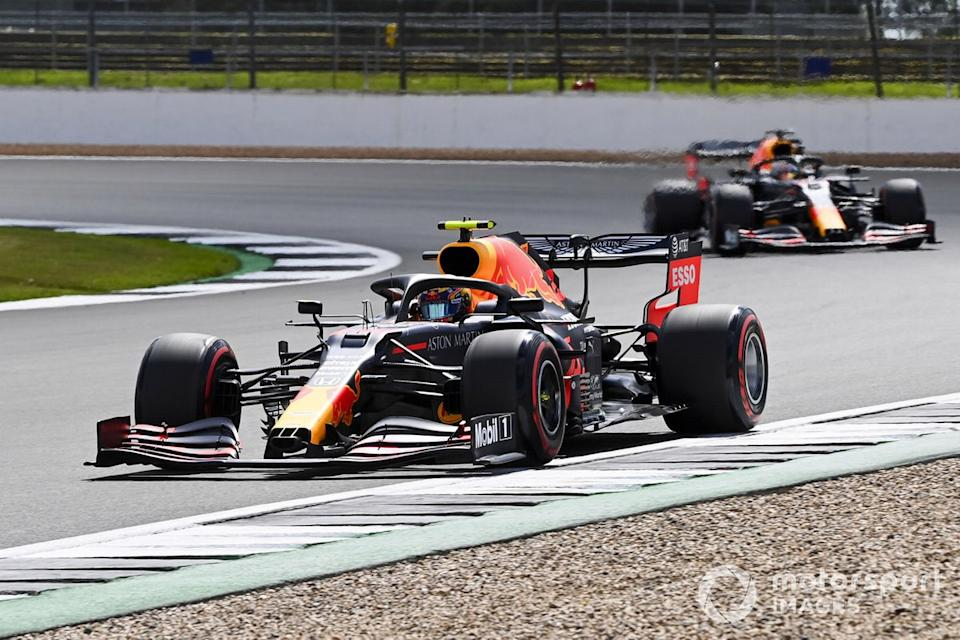 """Alex Albon, Red Bull Racing RB16, Max Verstappen, Red Bull Racing RB16<span class=""""copyright"""">Mark Sutton / Motorsport Images</span>"""