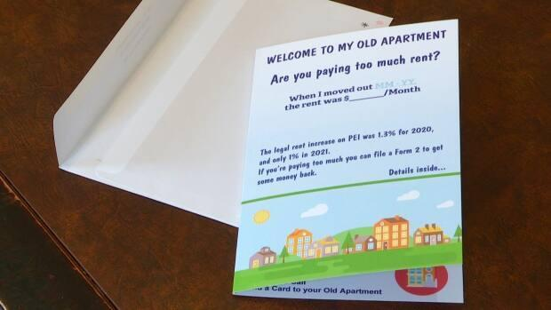 The cards are printed with spaces for previous tenants to fill out when they moved out and how much rent cost at that time.