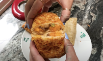 <p>This flavor combo is simply confusing. The cheddar, peppers, steak, and sriracha are all competing to be the most powerful flavor making this Hot Pocket a hot mess. </p>