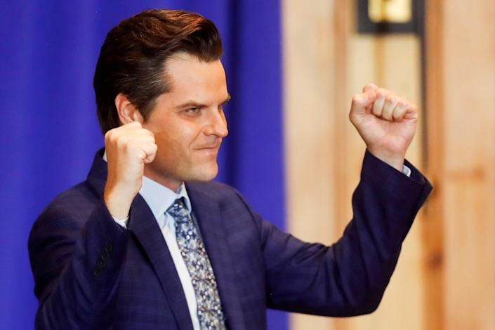 <p>Congressman Matt Gaetz says he and his fiancee were targeted by 'malicious actors' as they tried to purchase a boat</p> (Reuters)
