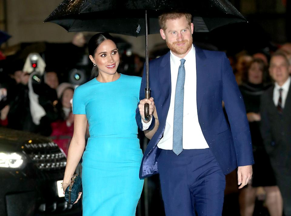 Prince Harry, Duke of Sussex and Meghan, Duchess of Sussex attend The Endeavour Fund Awards at Mansion House on March 05, 2020 in London, England.