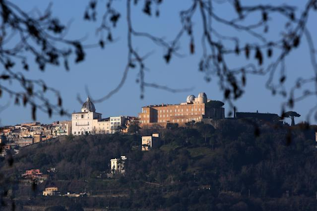 ROME, ITALY - FEBRUARY 20: A view of of the Apostolic Palace and the Pontifical Villas of Castelgandolfo on the Albano lac, that will be the Pope Benedict XVI's residence during the next Conclave on February 20, 2013 in Rome, Italy. The Apostolic Palace of Castelgandolfo, 10 miles south Rome, is the summer residence of Popes. (Photo by Franco Origlia/Getty Images)