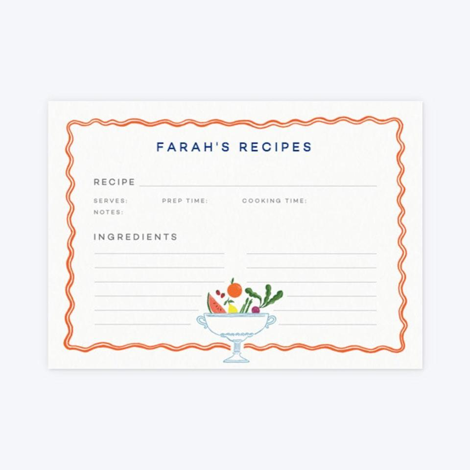 "<h3><a href=""https://www.papier.com/us/feast-29872"" rel=""nofollow noopener"" target=""_blank"" data-ylk=""slk:Papier Recipe Cards"" class=""link rapid-noclick-resp"">Papier Recipe Cards</a></h3><br>So she can collect and preserve recipes from the whole family (or keep track of recent lockdown culinary adventures). <br><br><strong>Hoste by Laura Jackson</strong> Recipe Cards, $, available at <a href=""https://go.skimresources.com/?id=30283X879131&url=https%3A%2F%2Fwww.papier.com%2Fus%2Ffeast-29872"" rel=""nofollow noopener"" target=""_blank"" data-ylk=""slk:Papier"" class=""link rapid-noclick-resp"">Papier</a>"