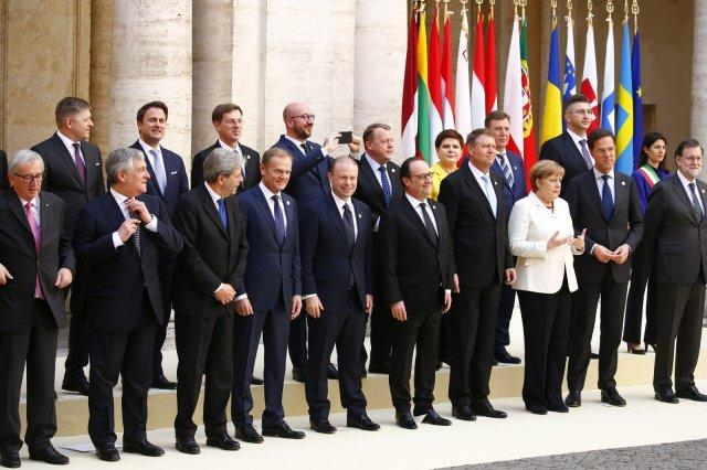 EU leaders celebrate EU's 60th birthday