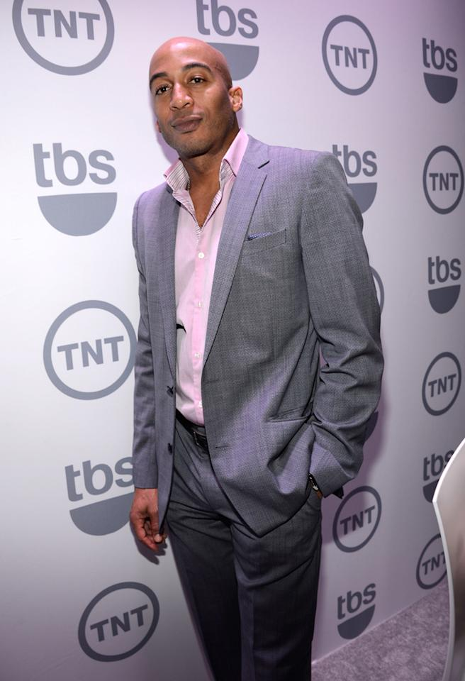 "James Lesure (""Men at Work"") attends the TNT/TBS 2012 Upfront Presentation at Hammerstein Ballroom on May 16, 2012 in New York City."