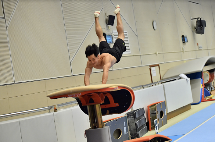Shek Wai-hung is a Hong Kong artistic gymnast. He is also the current Asian Games champion on vault.