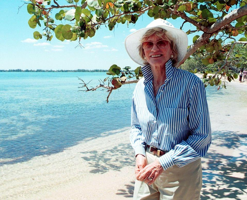 <p>40 years after the Bay of Pigs invasion under her brother JFK's presidency, Jean took a walk along Giron Beach, south of Havana, Cuba.</p>
