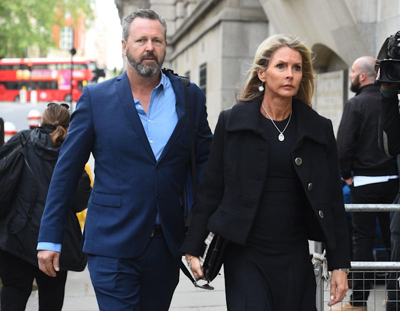 Mark and Julie Wallace, the parents of Sara Zelenak, 21, one of the victims of the London Bridge terrorist attack, arrive at the Old Bailey ahead of the inquests into the deaths of the eight people killed in the attacks on London Bridge and in Borough Market, and the inquests into the deaths of the three attackers.