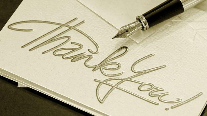 thank you card, thank you note