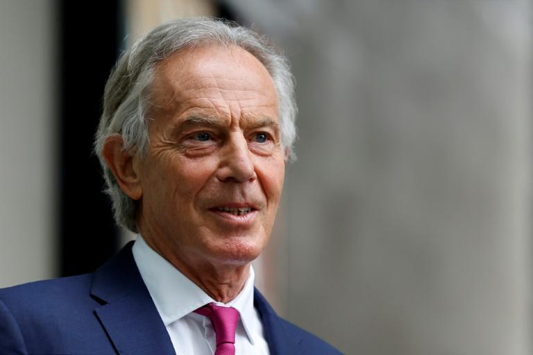 Former prime minister Tony Blair said it was not too late to stop climate change but 'real leadership' and 'real partnership' was required (AFP/Tolga Akmen)