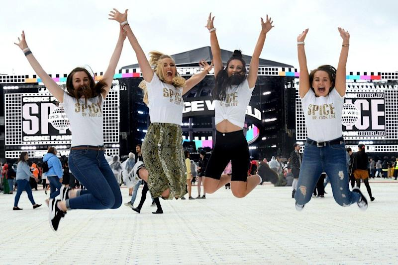 Spice Girls Fans attend Spice World concert in Croke Park, Ireland