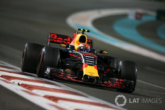 """2017 : Red Bull RB13, à moteur TAG-Heuer (Renault) <span class=""""copyright"""">Charles Coates / Motorsport Images</span>"""