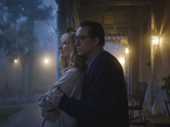 Cosmic fright-fest: Joely Richardson and Nicolas Cage in 'Colour Out of Space' (XYZ Films)