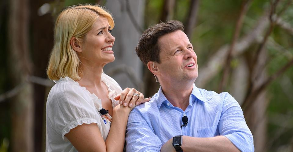 """<p>Holly Willoughby took a break from the <em>This Morning </em>couch to step into Ant McPartlin's hosting shoes on <em>I'm a Celebrity…Get Me Out of Here! </em>while he takes a break from television due to his drink and substance abuse issues. Willoughby was <a rel=""""nofollow"""" href=""""https://uk.news.yahoo.com/im-celebrity-get-live-blog-205056812.html"""" data-ylk=""""slk:initially slated for her 'awkward' live hosting duties;outcm:mb_qualified_link;_E:mb_qualified_link;ct:story;"""" class=""""link rapid-noclick-resp yahoo-link"""">initially slated for her 'awkward' live hosting duties</a>, but clearly won over the fans as the <a rel=""""nofollow"""" href=""""https://uk.style.yahoo.com/ratings-changed-since-holly-willoughby-154615925.html"""" data-ylk=""""slk:series received its highest ratings in years;outcm:mb_qualified_link;_E:mb_qualified_link;ct:story;"""" class=""""link rapid-noclick-resp yahoo-link"""">series received its highest ratings in years</a>. </p>"""