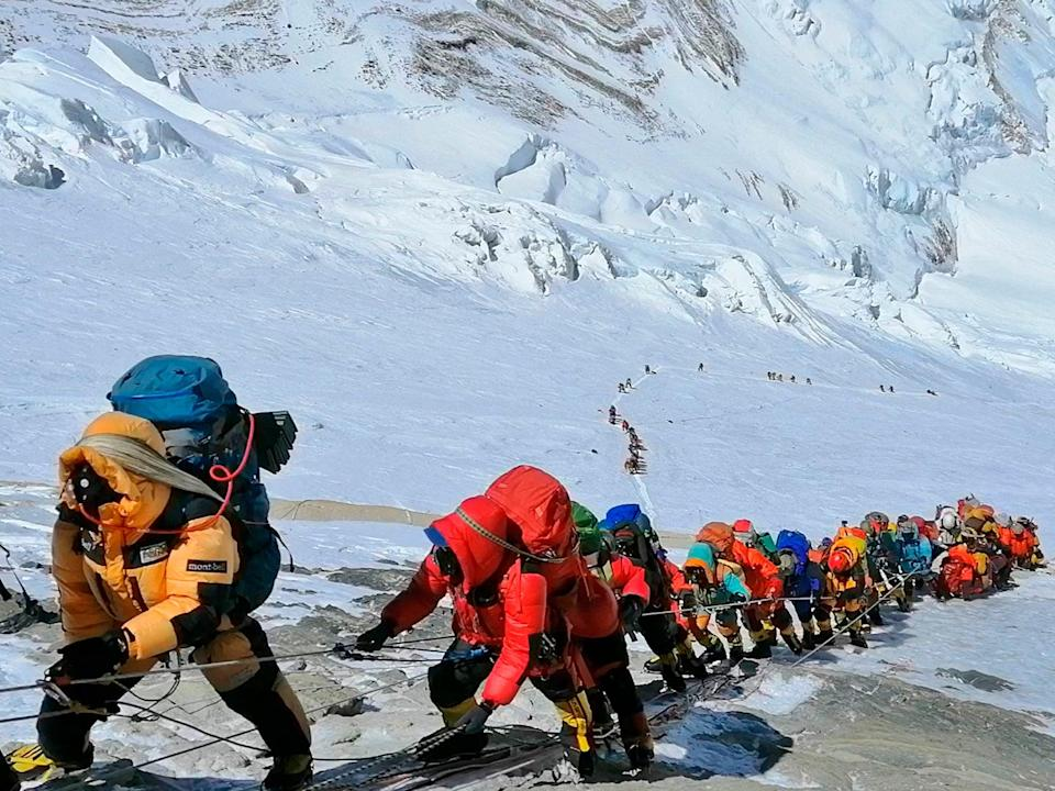 <p>Climbing Everest could be the ultimate new year resolution</p> (AP)