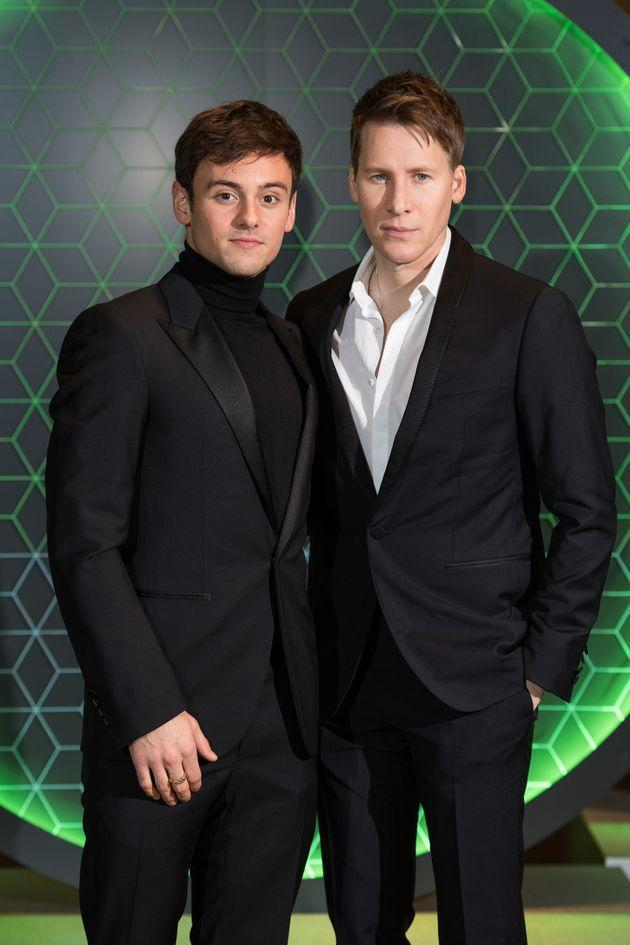 Tom Daley and his husband Dustin Lance Black in 2018 (Photo: Jeff Spicer via Getty Images)