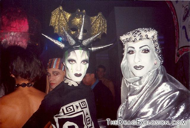 Kabuki and Keda at the Limelight in 1993. (Linda Simpson -- The Drag Explosion)