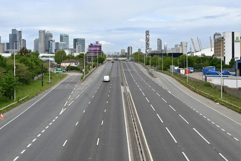 Some normally crammed roads have been deserted during the UK lockdown