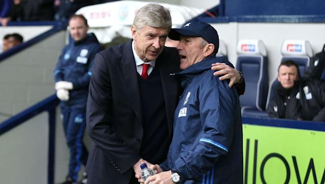 "West Brom manager Tony Pulis has claimed that Arsene Wenger told him of his intention to stay on as Arsenal manager at the end of the season - following West Brom's 3-1 win over the North London club. The Frenchman has said that he has made a decision regarding his future and will announce it 'very soon', but is yet to do so. Speaking to The Sun after the game, Pulis said: ""I'll be surprised if he goes,"" and added: ""Because he told me,"" in response to the question as to why he thought that...."