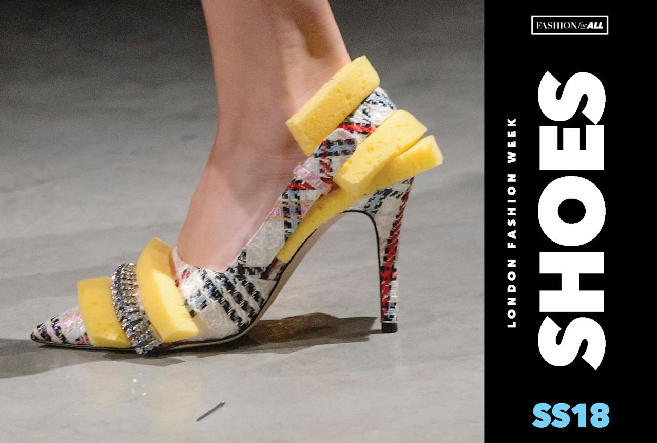 <p><i>The best shoes from LFW. (Photo: ImaxTree, Art: Quinn Lemmers for Yahoo Lifestyle) </i></p>