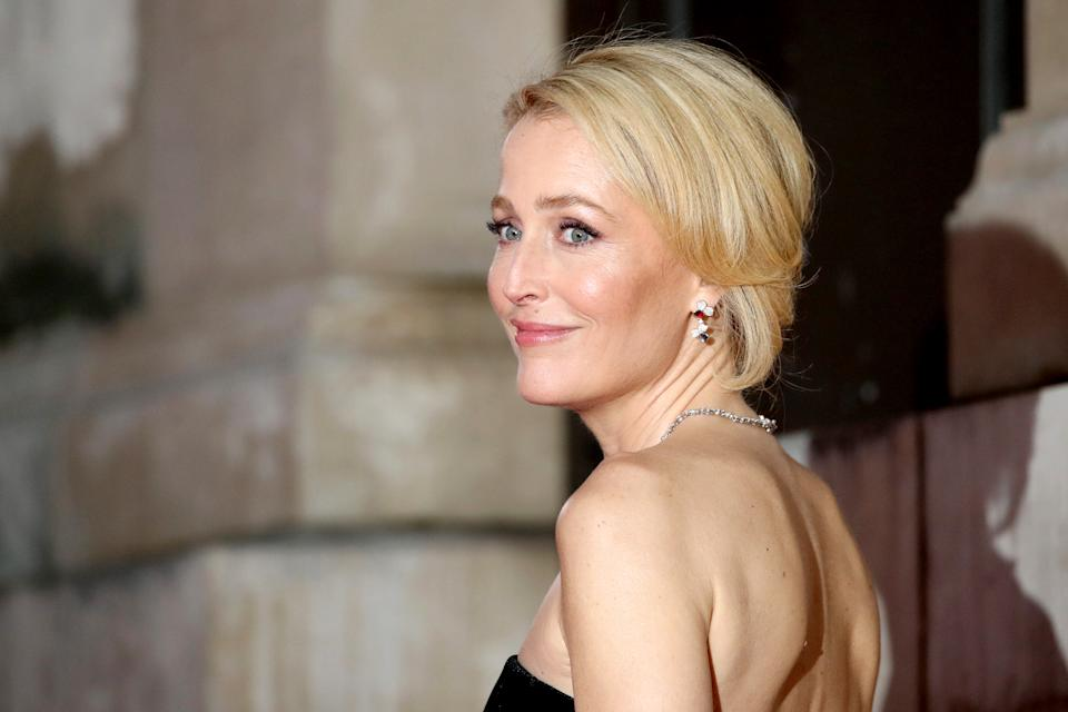LONDON, ENGLAND - FEBRUARY 02: Gillian Anderson attends the EE British Academy Film Awards 2020 at Royal Albert Hall on February 02, 2020 in London, England. (Photo by Mike Marsland/WireImage )