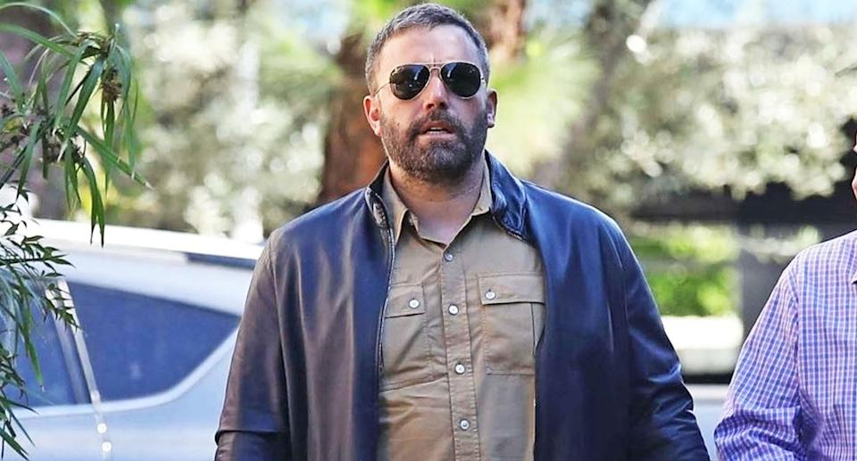 Ben Affleck heading to a therapy session in Los Angeles. (Photo: BackGrid)
