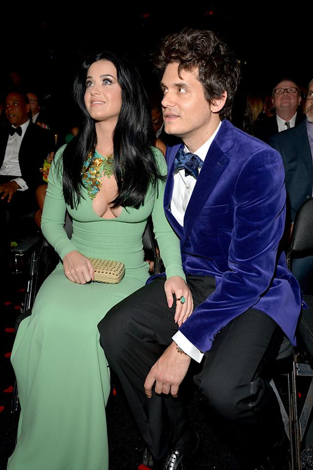 Katy Perry and John Mayer attend the 55th Annual Grammy Awards at the Staples Center in Los Angeles, CA on February 10, 2013.