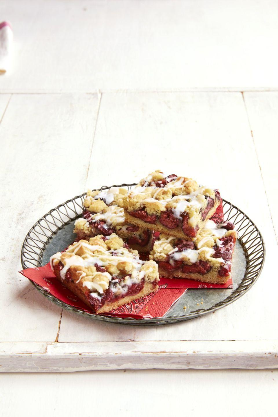 """<p>Why make your usual cookies when you could make crumbly, cherry-packed, icing-covered cookie <em>bars</em>?</p><p><strong><a href=""""https://thepioneerwoman.com/food-cooking/recipes/a32098188/cherry-cookie-bars-recipe/"""" rel=""""nofollow noopener"""" target=""""_blank"""" data-ylk=""""slk:Get the recipe."""" class=""""link rapid-noclick-resp"""">Get the recipe.</a></strong></p><p> <a class=""""link rapid-noclick-resp"""" href=""""https://go.redirectingat.com?id=74968X1596630&url=https%3A%2F%2Fwww.walmart.com%2Fip%2FThe-Pioneer-Woman-Spring-Bouquet-2-Piece-Baker-Set%2F595449072&sref=https%3A%2F%2Fwww.thepioneerwoman.com%2Ffood-cooking%2Fmeals-menus%2Fg32109085%2Ffourth-of-july-desserts%2F"""" rel=""""nofollow noopener"""" target=""""_blank"""" data-ylk=""""slk:SHOP BAKING DISHES"""">SHOP BAKING DISHES</a></p>"""
