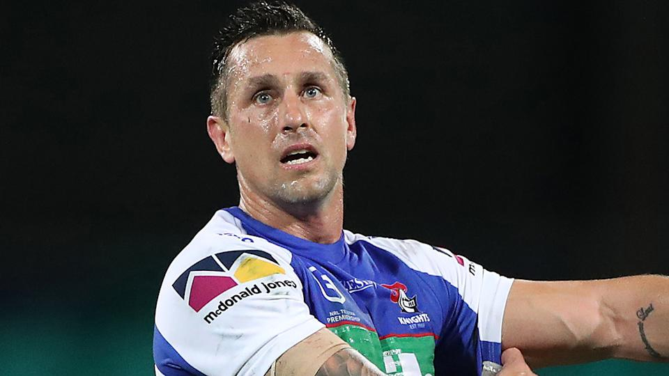 Mitchell Pearce will step down as captain of the Newcastle Knights, effective immediately. (Photo by Cameron Spencer/Getty Images)