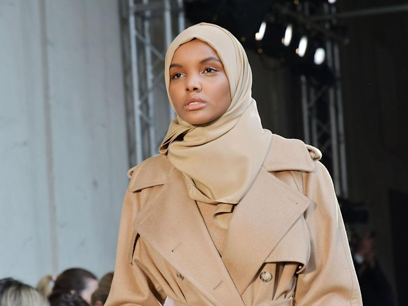 Halima Aden appeared on the catwalk in Milan last month for Max Mara: Rex
