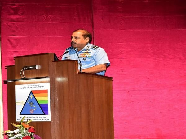 Air Chief Marshal RKS Bhadauria, Chief of the Air Staff delivering inaugural address.