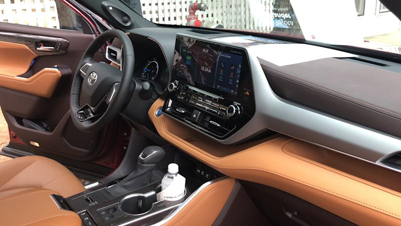 Top models of the 2020 Toyota Highlander have a 12.3-inch touch screen.