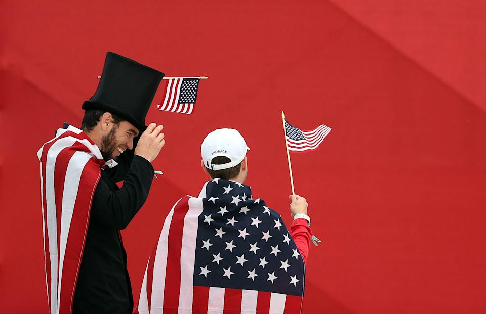 Fans attend the opening ceremony for the 43rd Ryder Cup