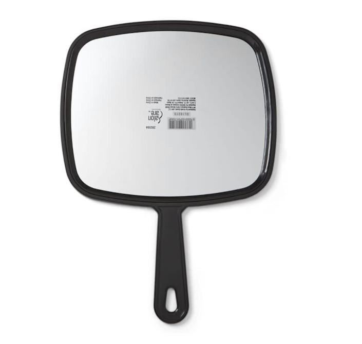 """This <a href=""""https://fave.co/39blb9W"""" rel=""""nofollow noopener"""" target=""""_blank"""" data-ylk=""""slk:Salon Care Extra Large Hand Mirror"""" class=""""link rapid-noclick-resp"""">Salon Care Extra Large Hand Mirror</a> lets you see your face and hair from front and back. Find it for $6 at <a href=""""https://fave.co/39blb9W"""" rel=""""nofollow noopener"""" target=""""_blank"""" data-ylk=""""slk:Sally Beauty"""" class=""""link rapid-noclick-resp"""">Sally Beauty </a>"""